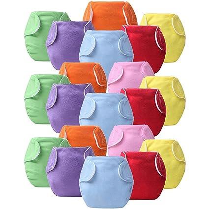 7/14/20 pcs Baby Infant pañales de tela reutilizable lavable a prueba de