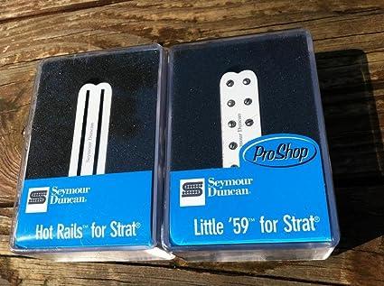 2c2eea361a2 Amazon.com: Seymour Duncan Hot Rails & Little 59 Strat Pickup Set ...