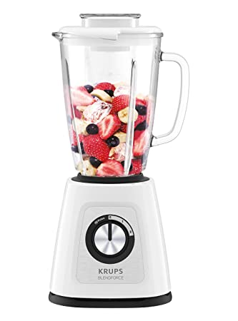 Krups kb4351 Blend Force + batidora, 800, 1.25 l), color blanco: Amazon.es: Hogar