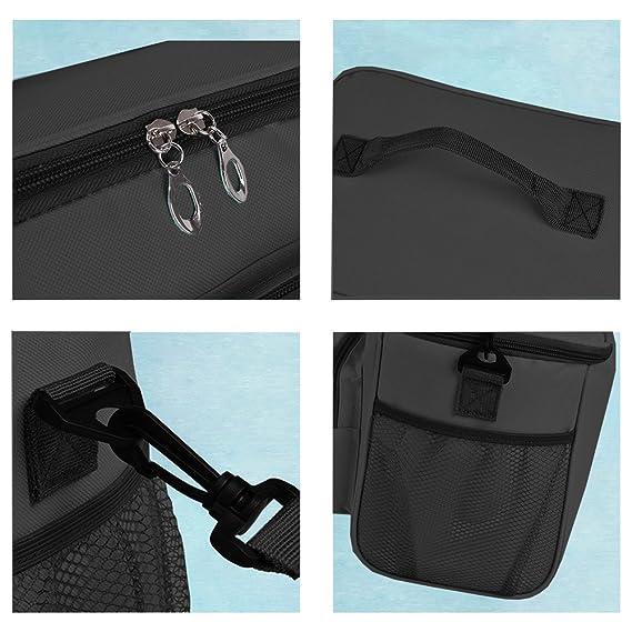 WOSON Bolsa Térmica Porta Alimentos Nevera Portátil para Enfriamiento Alimentos Almuerzo Lunch Bag (10.3L - Black): Amazon.es: Hogar