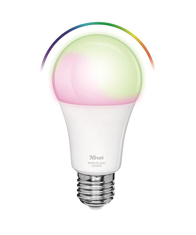 Trust Smart Home ZLED-RGB9 - Bombilla LED Inteligente RGB Ajustable, Color Blanco: Amazon.es: Informática