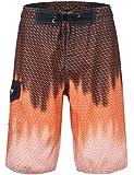 "Hopgo Men's Swim Trunks 22"" Quick Dry Beach Shorts Striped Boardshorts with Mesh Lining"