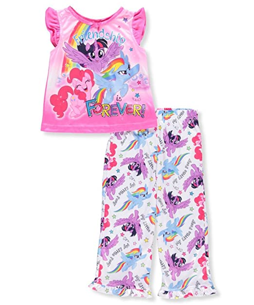 71bfd25e0d03 Amazon.com  My Little Pony Girls  Magical 2-Piece Pajama Set  Clothing