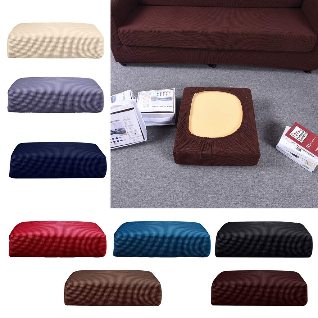 B Blesiya Stretchy Sofa Futon Seat Cushion Covers Couch Slipcover Protector Replacement Solid Color Cream/_Size S