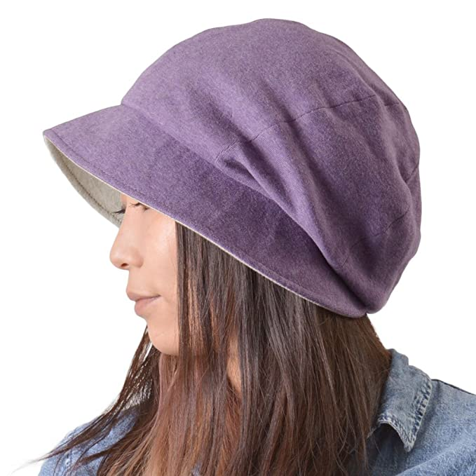 Casualbox Da Donna Sole Cappello Organico Cotone Reversibile Giapponese  Design Viola  Amazon.it  Abbigliamento bfdb05d9efb9