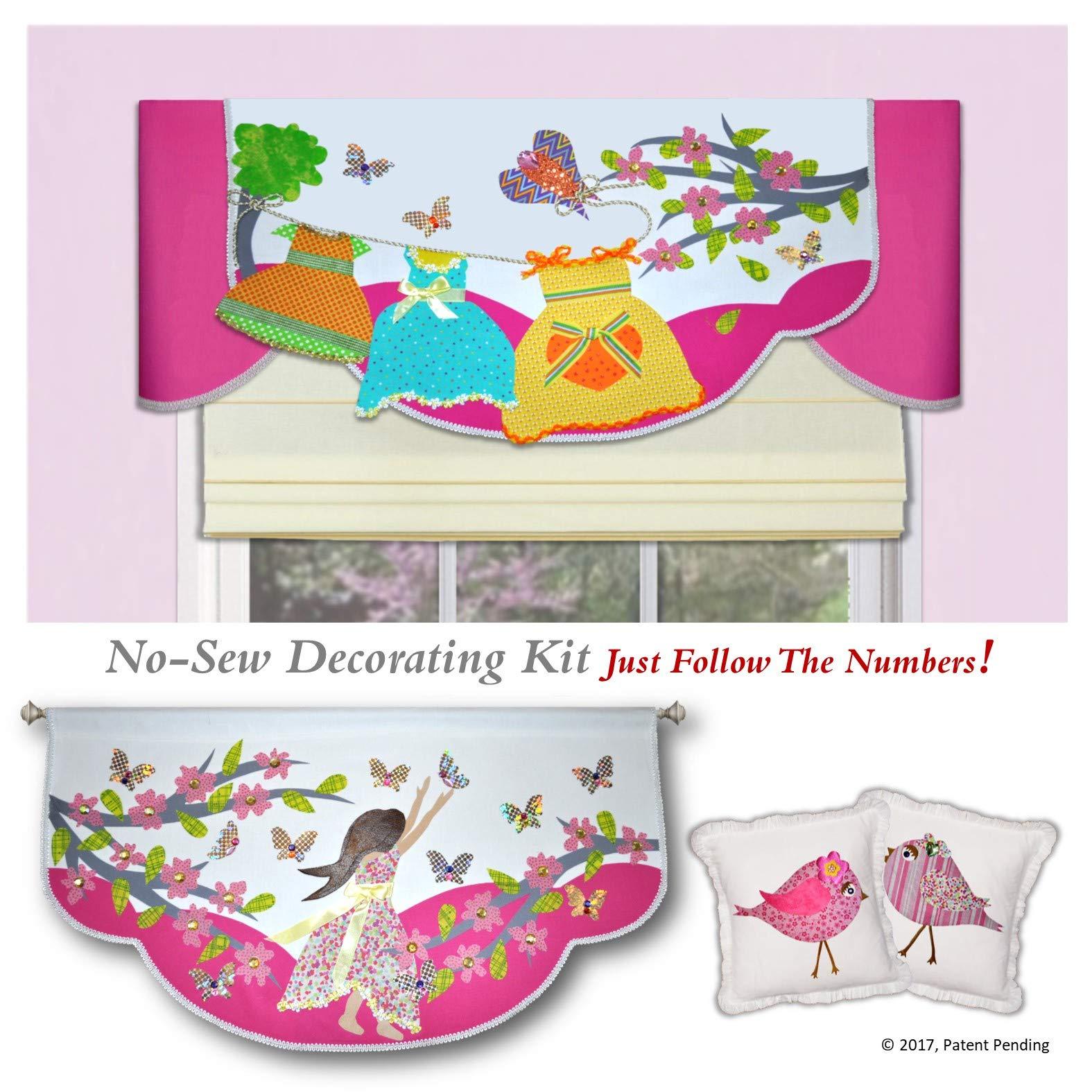 Traceable Designer Kids Room, DIY Valance Room Decorating Kit for Girls Room or Baby Nursery by Traceable Designer