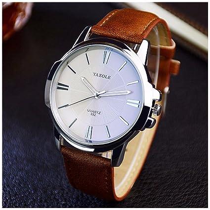 Lanlan para hombre análogo de cuarzo reloj de pulsera reloj de moda de ocio  de negocios 8599aefd971a