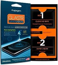 【Spigen】 全端末対応 液体保護フィルム/液体保護ガラス 塗るだけ 傷を防止 ガラス強化剤 液晶画面 コーティング剤 スマホ・タブレットPC・ゲーム機 対応 ナノリキッド 000GL21813