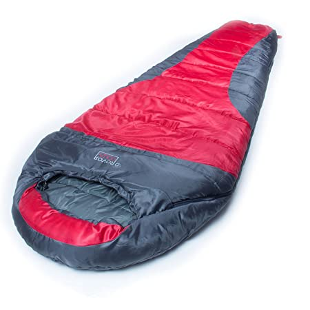 ROVOR Couzy 40 Degree Mummy Sleeping Bag with Included Stuff Sack The Couzy Sleeping Bags for Adults Have a 40 Degree Comfort Rating