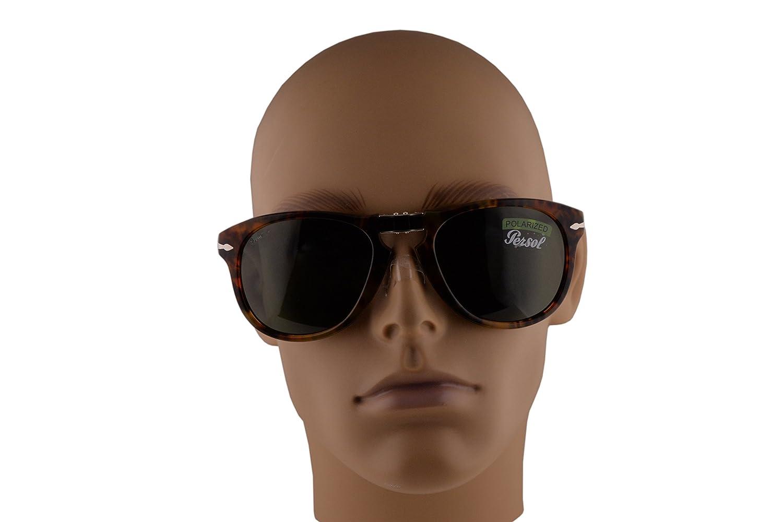 Persol 714-S Folding Sunglasses Caffe w//Polarized Green Lens 54mm 10858 PO 0714S PO714S PO714-S