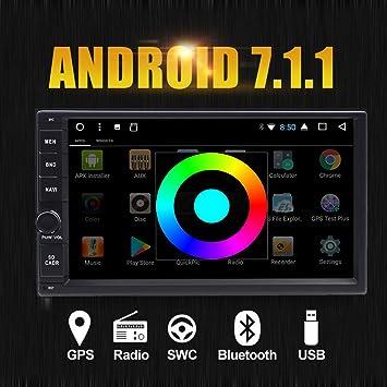 "Mejor WiFi modelo Android 7.1 Quad-Core 6.95"" Full Touch pantalla universal coche MP3"