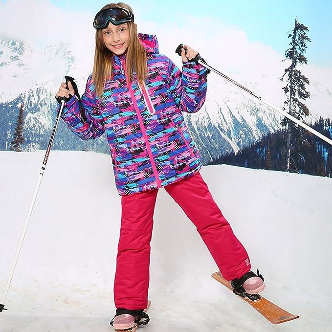 a4b7099989e5 Wonny Girls Ski Jacket Pants Kids Waterproof Winter Skisuit  Amazon ...