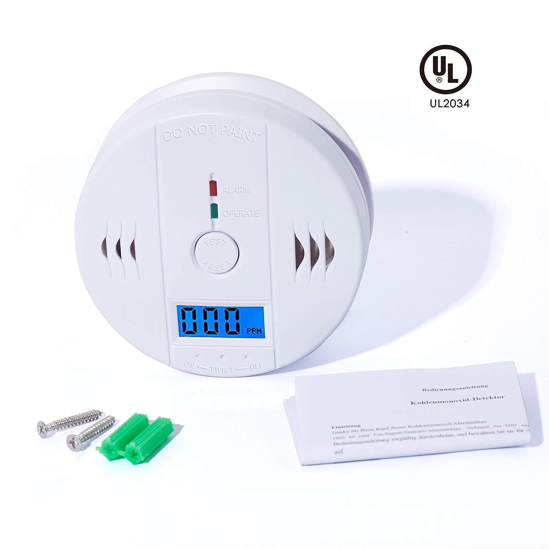 TrendElec Carbon Monoxide Detector, CO Gas Monitor Alarm ...