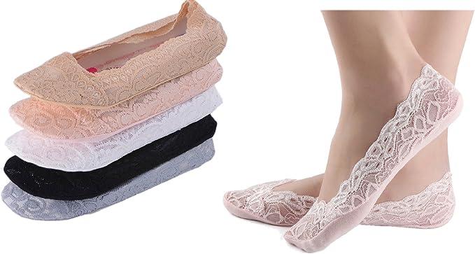heekpek 5 Pares Calcetines Invisibles Mujer Calcetines para Mujer Invisibles De Algodón Con Silicona Antideslizante Anti-olor Calcetines Cortos: Amazon.es: Ropa y accesorios