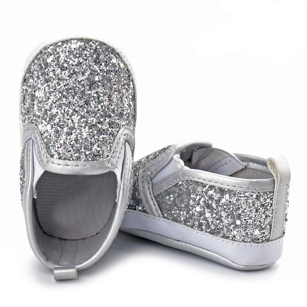 Toddler Shoes,Newborn Girls Boys Sequins Soft Anti-Slip Boots Baby Sneakers Crib Shoes