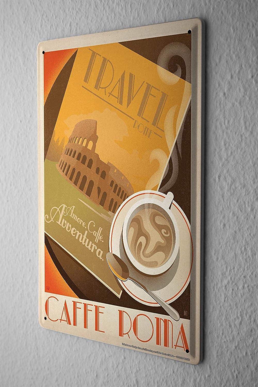 Fun Plaque Émaillée Décoration De Cuisine Tasse à café Opéra de