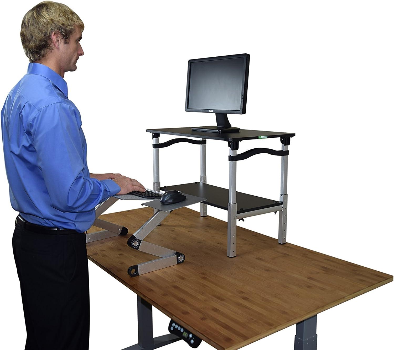 MINI Desktop Laptop Standing Desk Converter Riser Conversion Stand Topper cheap