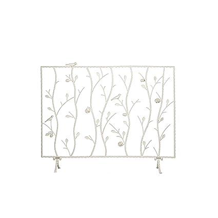 Sei Bird And Branch Antique White Fireplace Screen Amazon Co Uk