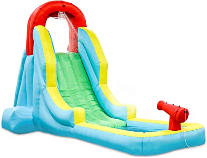 Amazon.com: Deluxe Inflable Water Slide Park – Heavy Duty ...
