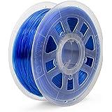 Gizmo Dorks 1.75mm PLA Filament 1kg / 2.2lb for 3D Printers, Translucent Blue
