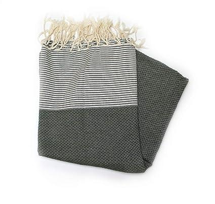 Fouta tunecina de nido de abeja verde ref ama024 – 100% algodón peinadoSe puede utilizar