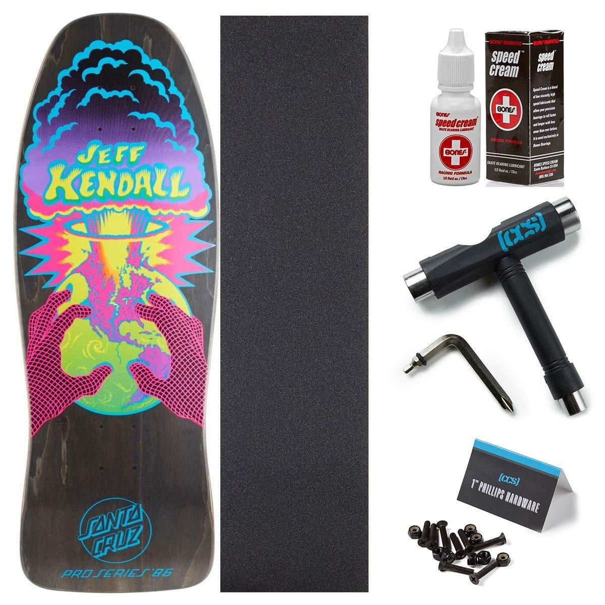 Santa Cruz Kendall End of the World Reissue スケートボードデッキ 10.00インチ ボーンスピードクリーム付き CCSグリップ スケートツール 1インチ金具