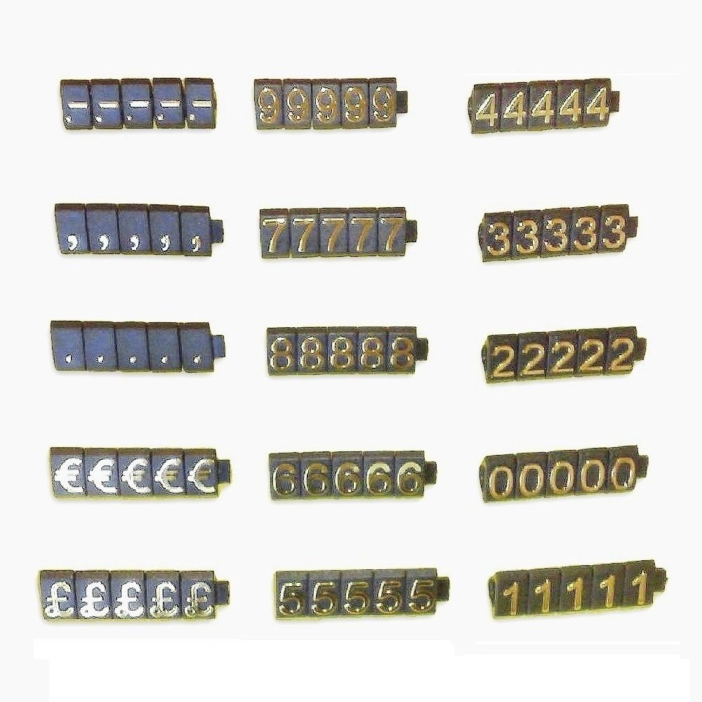1 Price Cube Kit For Shop Display (340 Cubes, Gold on Black) PCUGD PC3721