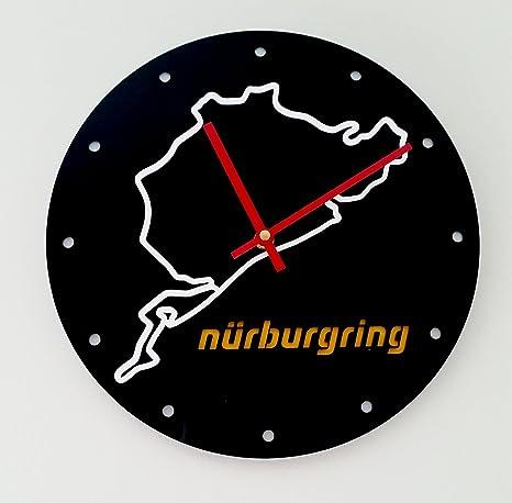 Reloj de pared original Nurburgring, metacrilato, silencioso, moderno