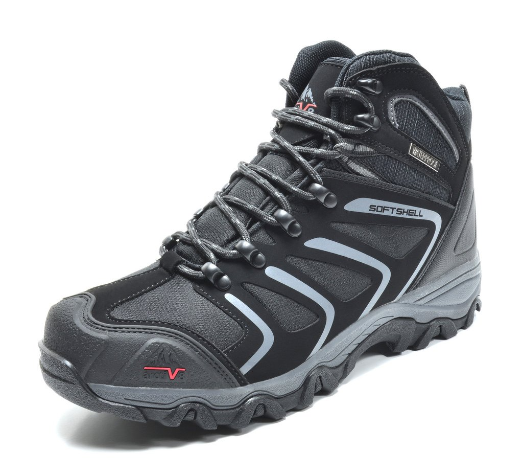 arctiv8 160448-M Men's Insulated Waterproof Construction Rubber Sole Hiking Boots Black Size 9.5 by arctiv8