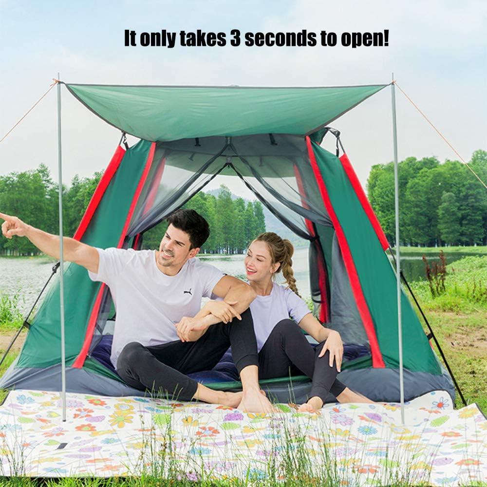 Instant tent voor 2-4 personen, volautomatische tent Het duurt slechts 3 seconden om de waterdichte, winddichte familiecampingtent te openen of op te bergen Green