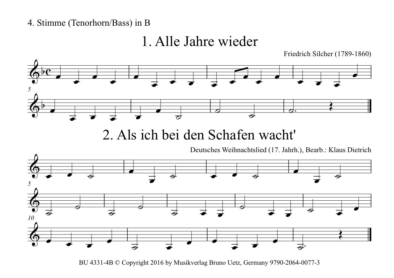 Fröhliche Weihnachten. 35 der schönsten Weihnachtslieder für 4 ...