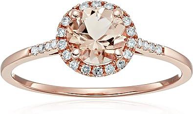 Size 7 1 5cttw H I Color I1 I2 Clarity 10k Rose Gold Morganite