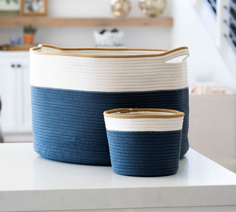 Large Cotton Rope Basket (22