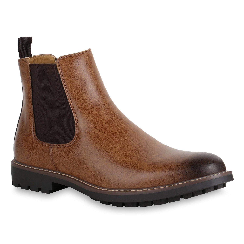 Stiefelparadies Herren Chelsea Boots Profilsohle FlandellHerren Chelsea Profilsohle Freizeitschuhe Flandell Billig und erschwinglich Im Verkauf