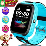 """Kids Smart Watch Phone - GPS Tracker for Kids Girls Boys with 1.44"""" Touch Screen Cellphone SOS Anti-Lost Alarm Clock Camera Children Game Digital Wrist Watch Christmas Classroom Great Gifts"""