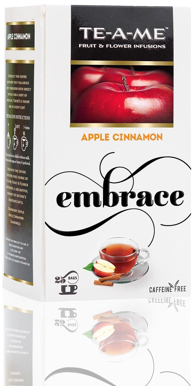 TE-A-ME Apple Cinnamon Infusion Tea Pack of 25 Tea Bags