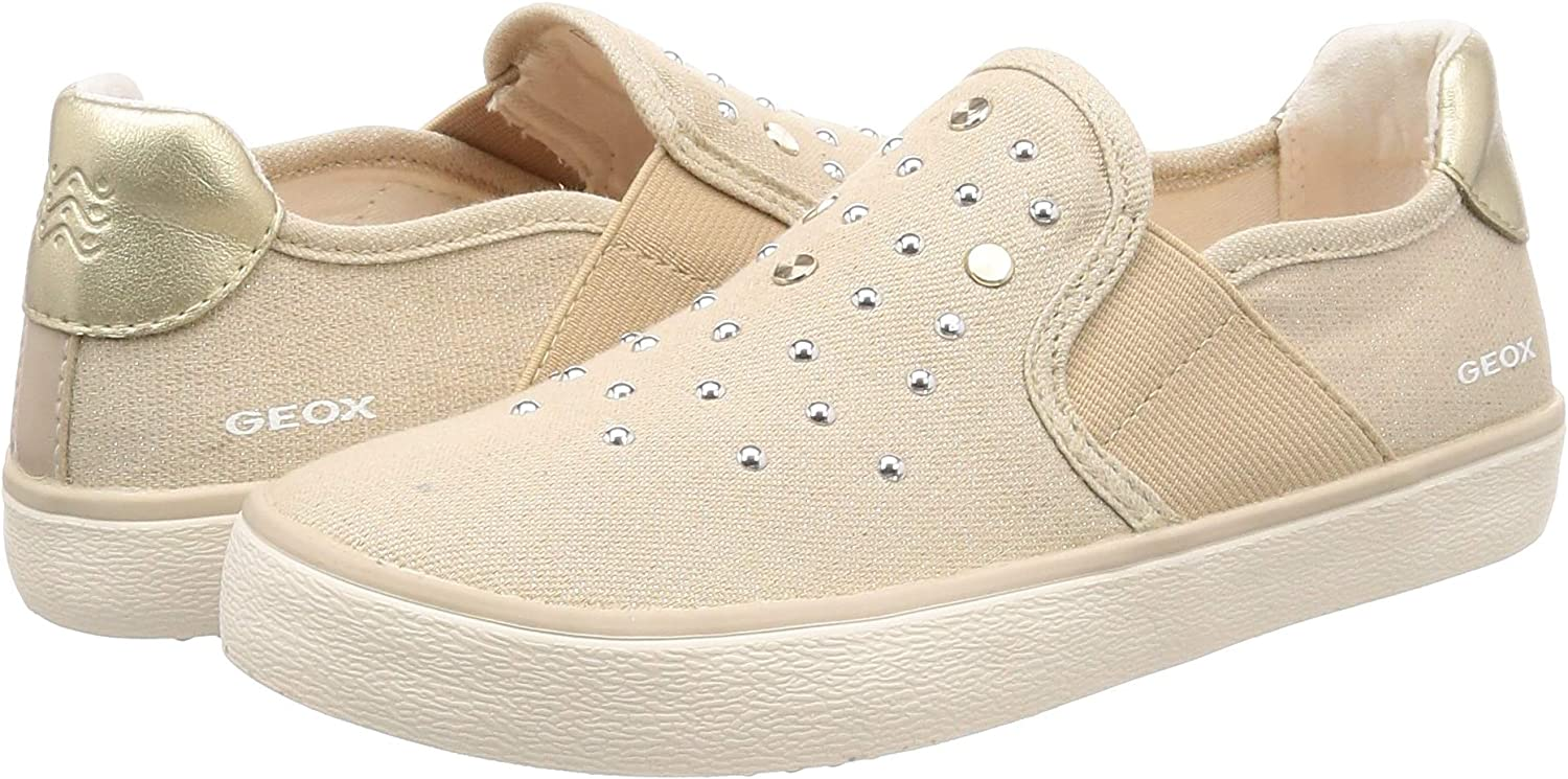 Lace Fastening With Junior Girls Geox Kilwi Mid Trainers In Light Grey Silver