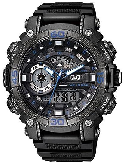 Q&Q Reloj de los hombres GW87J003Y analógica / digital con Correa de Resina