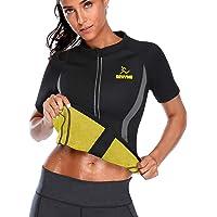 SEXYWG Vrouwen Hot Sweat Sauna Shirt Neopreen Top Workout Body Shaper Afslanken Sauna Pak