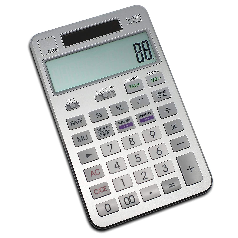 MTS fn-X88 Office Calculator Desk Calculator Office Gold Silver Black Rose Gold 118x110x18mm Gold