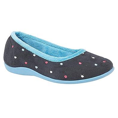 Sleepers - Zapatillas de estar por casa modelo Jade con lunares para mujer (38/Fucsia) gdZ6j
