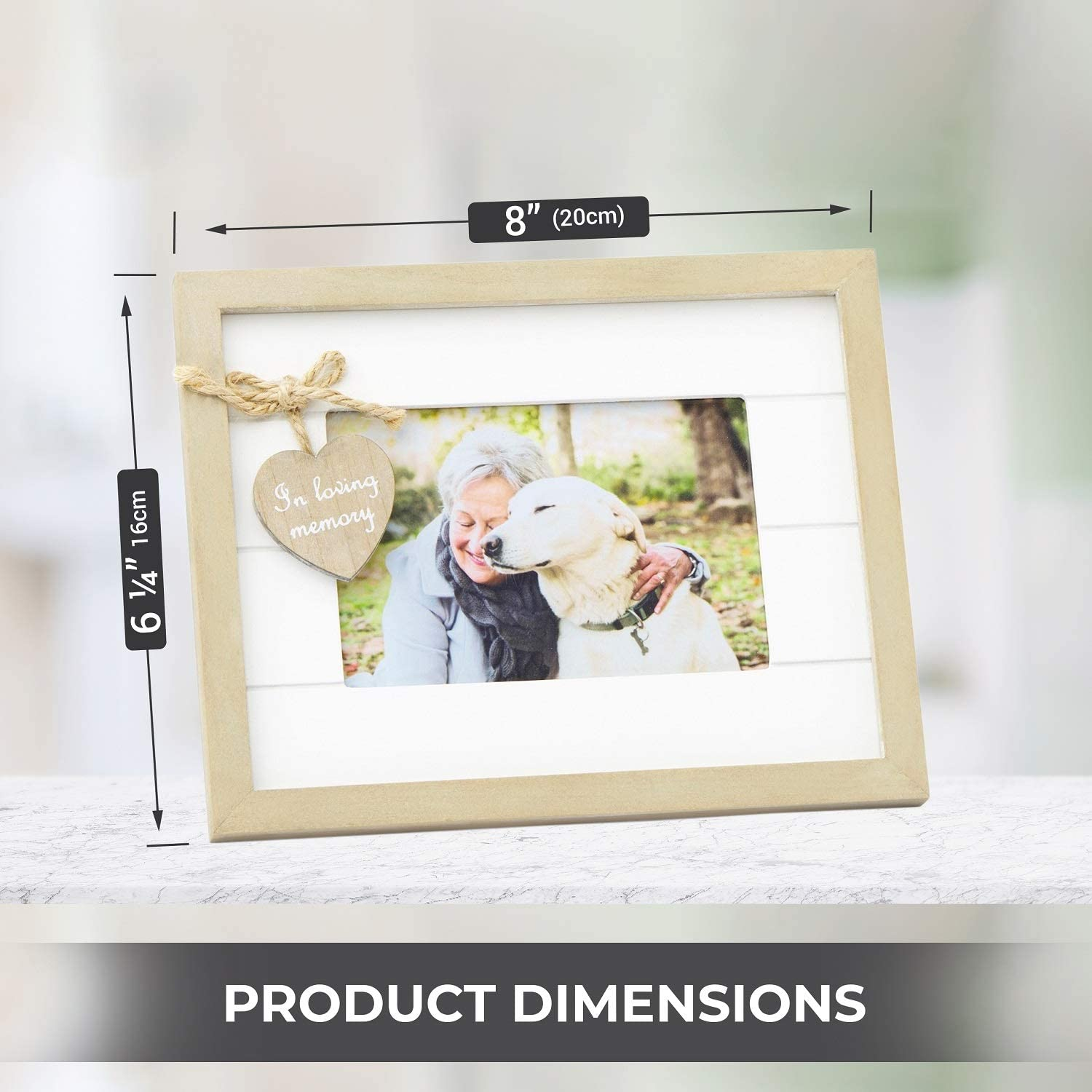 Family Rustic Bunting Photo Frame Memories Memento Boho Vintages Colourful Woode