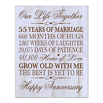 Amazon 55th Wedding Anniversary Wall Plaque Gifts For Couple