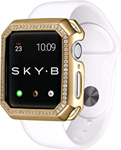 SKYB Deco Halo Yellow Gold Protective Jewelry Case for Apple Watch Series 1, 2, 3, 4, 5 Devices - 40mm