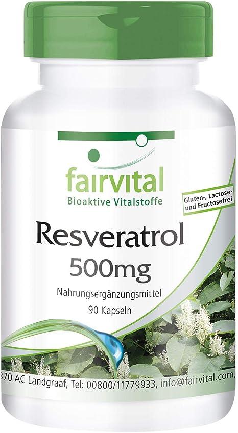 Resveratrol 500mg Bulk Pack Vegan High Dosage 90 Capsules