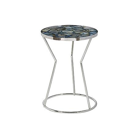 Pulaski Millard Polished Stone Circular Side Accent Table