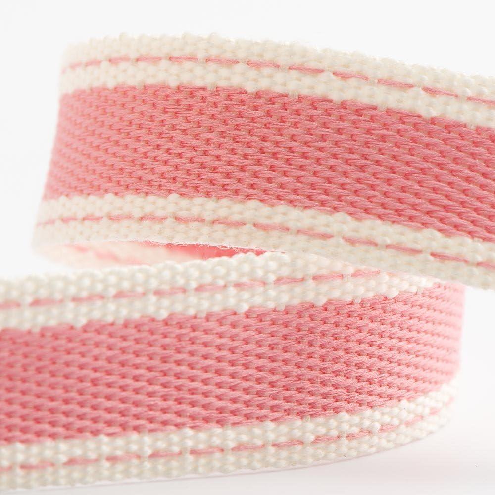 Rollo de cinta de sarga de algodón suave de 15 mm x 10 m, color rosa: Amazon.es: Hogar