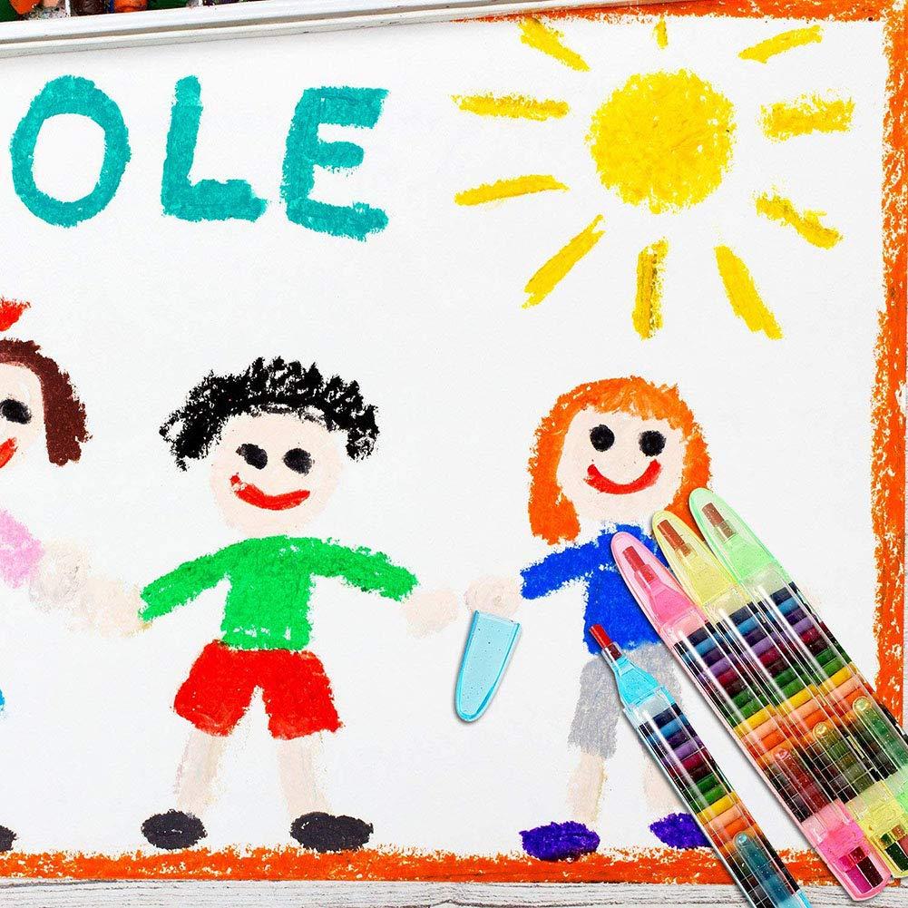 BeesClover 4/pz per Bambini Pittura Giocattoli 20/Colori Pastello a Cera Baby Funny pastelli ad Olio educativi per Bambini Graffiti Penna Art Gift