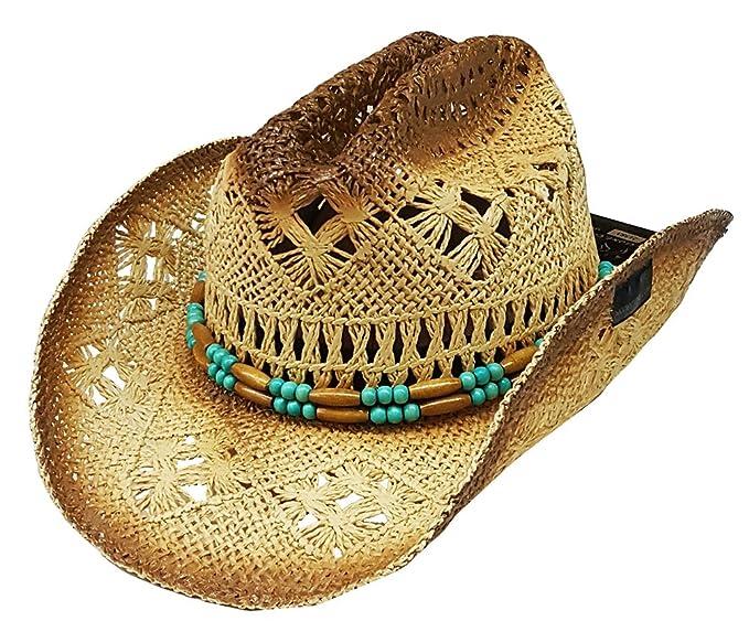 Modestone Unisex Straw Sombrero Vaquero Beige  Amazon.es  Ropa y . c9b60544a04