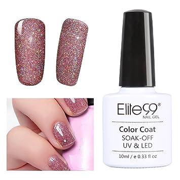 Gel Polish,Elite99 10ML Soak Off UV LED Gel Nail Polish Bling Neon ...